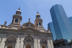 Santiago de Chile Cathedral Royalty Free Stock Photo