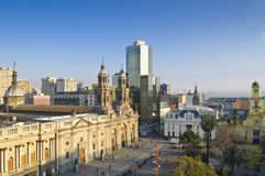 Santiago de Chile (Chile). View of Plaza de Armas (Santiago de Chile, Chile royalty free stock image