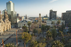 Santiago de Chile (Chile). View of Plaza de Armas (Santiago de Chile, Chile royalty free stock photos
