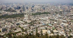 Santiago de Chile, Chile. Panoramic view of Santiago de Chile downtown, Chile Stock Image