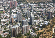 Santiago de Chile, Chile. Panoramic view of Santiago de Chile downtown, Chile Royalty Free Stock Image