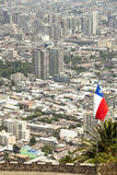 Santiago de Chile, Chile. Panoramic view of Santiago de Chile downtown, Chile Stock Photo