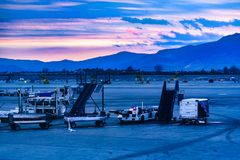Santiago de Chile Aiport Landing Track royalty free stock images