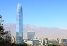 Santiago de chile city skyline. Royalty Free Stock Photography