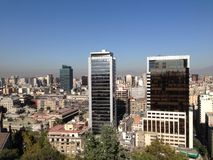Santiago de Chile. City view from the Santa Lucía Hill Royalty Free Stock Photos