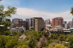 Santiago de Chile Cityscape Fotografering för Bildbyråer