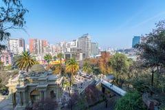 Santiago de Chile Cityscape immagine stock libera da diritti