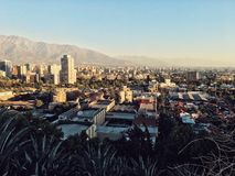 Santiago de Chile cityscape. Landscape panorama of Santiago Royalty Free Stock Photos