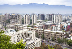 Santiago de Chile downtown skyline. Stock Image