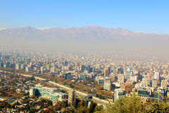 Santiago de Chile, financial and economy center Royalty Free Stock Image