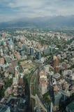 Santiago de Chile flyg- sikt från himmel Costanera, Santiago, Chile Royaltyfri Foto