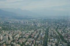 Santiago de Chile flyg- sikt från himmel Costanera, Santiago, Chile Arkivbilder