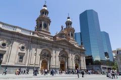 Santiago de Chile katedra fotografia royalty free