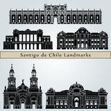 Santiago de Chile 2 Landmarks Stock Photography