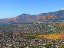 Santiago de Chile linia horyzontu zdjęcie royalty free