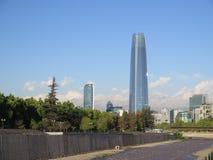 Santiago de Chile linia horyzontu obrazy stock
