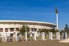 Santiago de Chile National Stadium. Exterior view shot of Julio Martinez Pradanos santiago de chile stadium stock photos