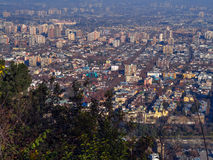 Santiago de Chile. Panoramic view of Santiago de Chile - America Stock Photography