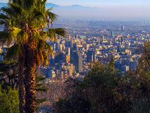 Santiago de Chile. Panoramic view of Santiago de Chile - America Royalty Free Stock Photos