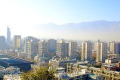 Santiago de Chile, panoramic view skyline Stock Photos