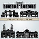 Santiago de Chile 2 points de repère illustration libre de droits