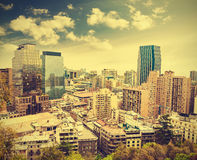 Santiago de Chile skyline, Chile. Royalty Free Stock Image