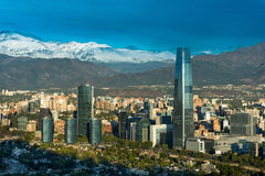 Santiago de Chile. Skyline of Santiago de Chile with modern office buildings at financial district in Las Condes Stock Photography