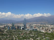Santiago de Chile Skyline. View of Santiago de Chile Skyline and Costanera Center building Royalty Free Stock Image