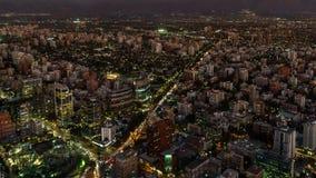 Santiago de Chile-SonnenuntergangZeitspanne, Draufsicht stock video footage