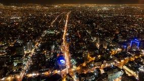 Santiago de Chile-Stadtnachtzeitversehen, Draufsicht stock video footage