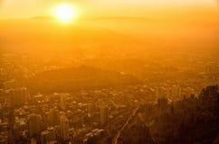 Santiago de Chile Sunset photographie stock libre de droits