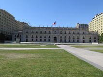 Santiago de Chile. View of building La Moneda in Santiago de Chile , Chile Royalty Free Stock Photography