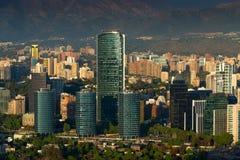 Santiago de Chile. View of Santiago de Chile with Titanium La Portada skyscraper Royalty Free Stock Photos