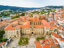 Santiago de Compostela в Галиции, Испании стоковые фотографии rf