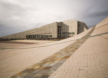 SANTIAGO DE COMPOSTELA, ИСПАНИЯ - 13-ОЕ НОЯБРЯ: Город культуры 4 Стоковое фото RF