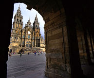 Santiago de Compostela Immagine Stock Libera da Diritti