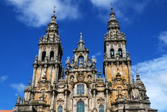 Santiago de Compostela. Romanesque Cathedral in city Santiago de Compostela , northern Spain Royalty Free Stock Image