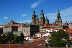 Santiago de Compostela. Romanesque Cathedral in city Santiago de Compostela, northern Spain Royalty Free Stock Images