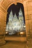 Santiago de Compostela. Cathedral at obradoiro's square Stock Photography
