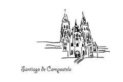 Santiago de Compostela Fotos de archivo