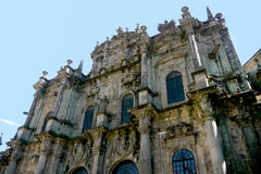 Santiago de Compostela byggnad arkivbilder