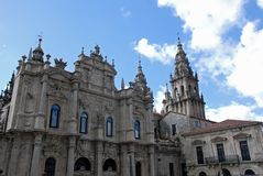 Santiago de Compostela Cathedral Royalty Free Stock Images