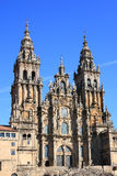 Santiago de Compostela Cathedral. In Galicia (Spain). Destination of the Way of St. James, a major historical pilgrimage route since the Middle Ages Stock Photos