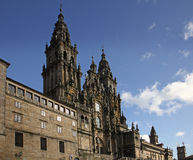 Santiago de compostela cathedral. Spain Royalty Free Stock Photography