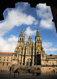 Santiago de compostela cathedral. Spain Royalty Free Stock Images