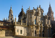 Santiago de Compostela Cathedral in day time. Santiago de Compostela,  Galicia Stock Image