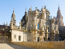 Santiago de Compostela Cathedral in day time Royalty Free Stock Photography