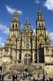 Santiago de Compostela Cathedral Galicia, Spanien Arkivfoton