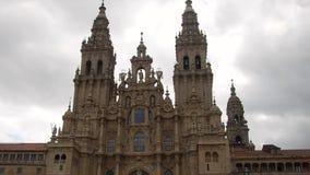 Santiago de Compostela Cathedral stock video
