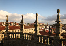 Santiago de compostela cathedral tower. From roof Stock Image